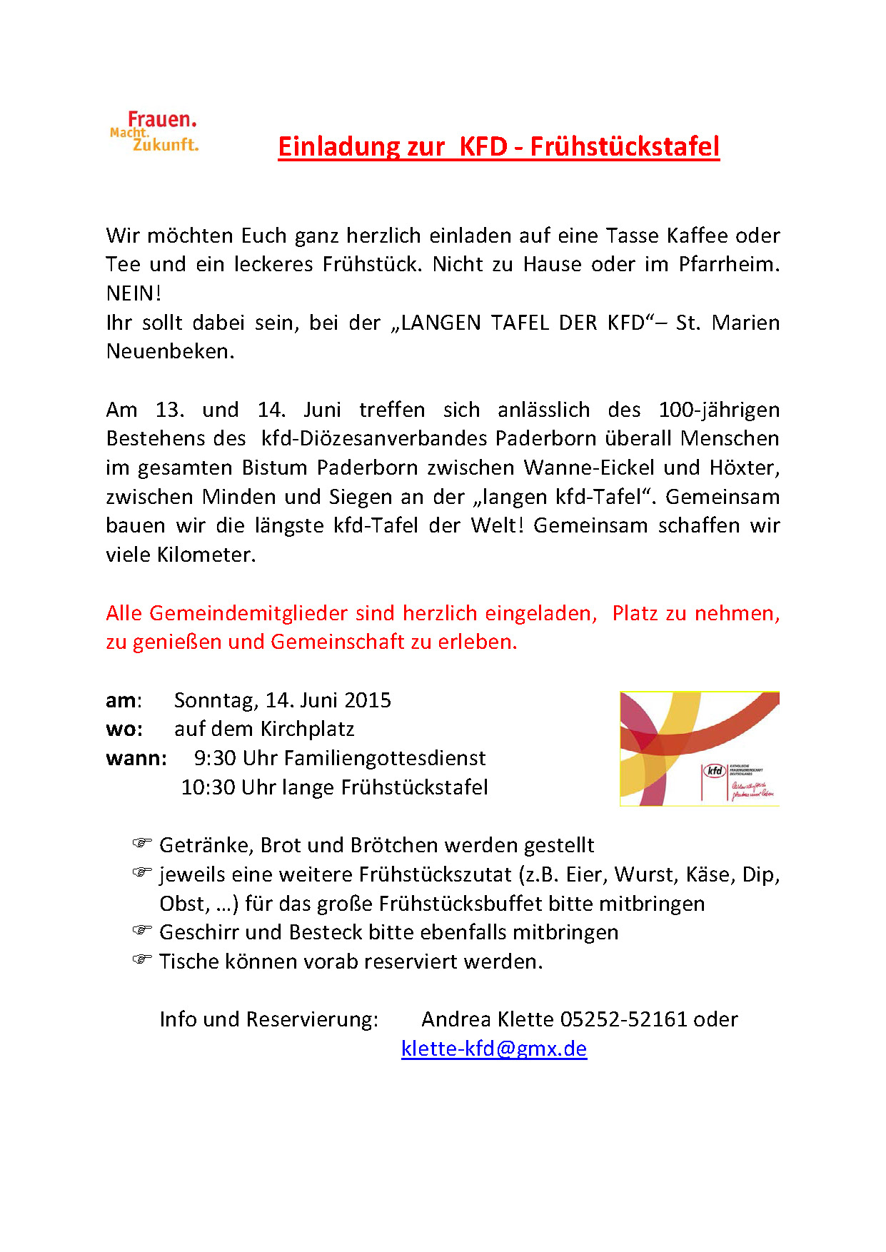 Flyer Juni Frühstückstafel 2015