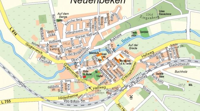 Diese Karte ist ein Ausschnitt aus dem amtlichen Stadtplan Paderborn 1:20000. Freundlicher Weise zur Verfügung gestellt vom Amt für Vermessung und Geoinformation der Stadt Paderborn. Vervielfältigung und weitere Verbreitung nur mit Zustimmung der Stadt Paderborn.