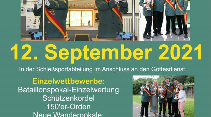 Bataillonsschießen 12. September 2021